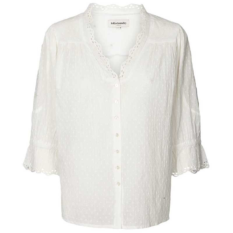 Lollys Laundry Bluse, Charlie, Creme