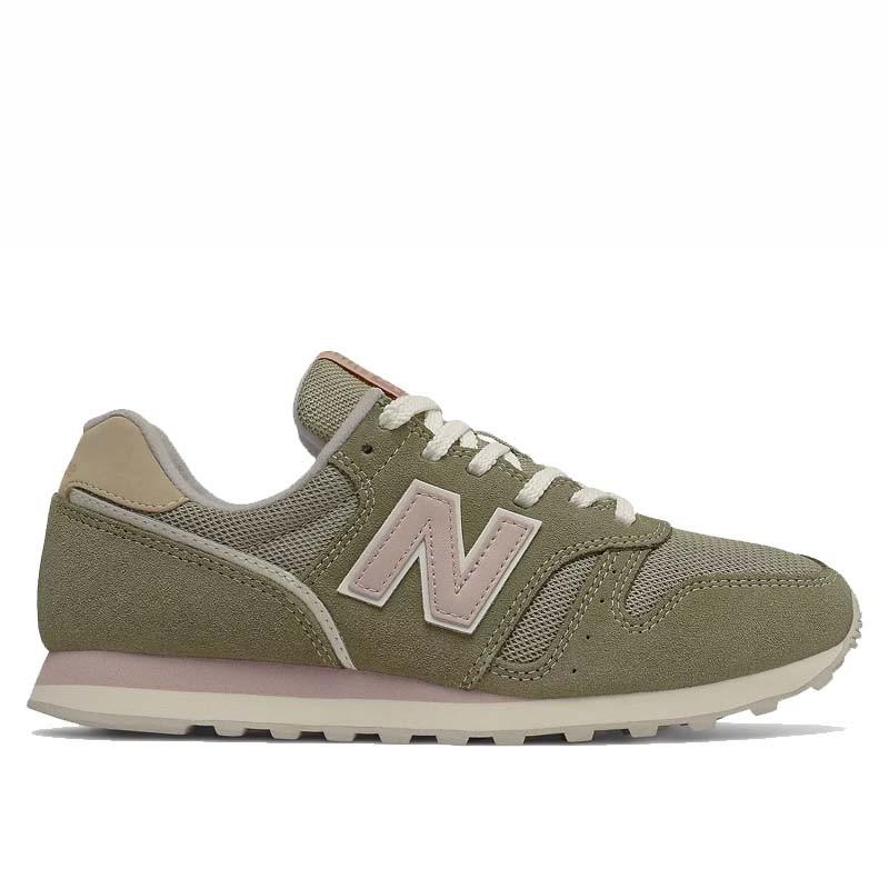 New Balance Sneakers, WL373, Incense/Space Pink, gummisko, grønne sneakers, ruskind