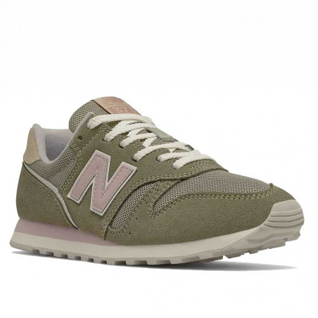 New Balance Sneakers, WL373, Incense/Space Pink, gummisko, grønne sneakers, ruskind, snude
