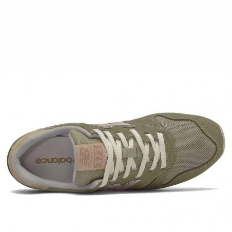 New Balance Sneakers, WL373, Incense/Space Pink, gummisko, grønne sneakers, ruskind, oppefra