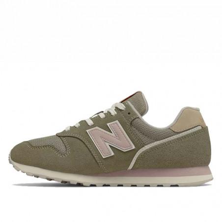 New Balance Sneakers, WL373, Incense/Space Pink, gummisko, grønne sneakers, ruskind, detalje