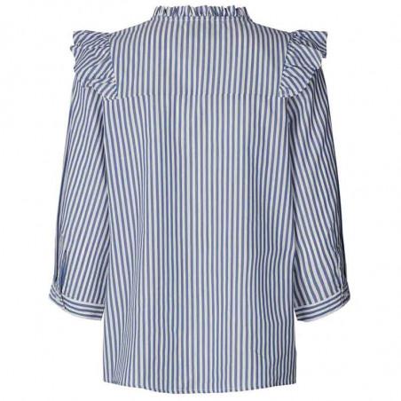 Lollys Laundry Skjorte, Hanni, Stripe set bagfra