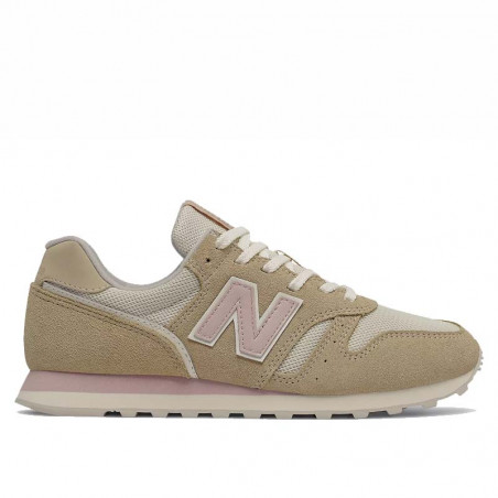 New Balance Sneakers, WL373, Covert Green/Space Pink, sandfarvet, mesh og ruskind