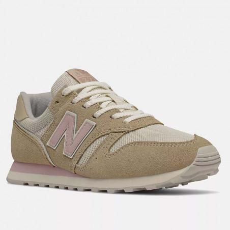 New Balance Sneakers, WL373, Covert Green/Space Pink, sandfarvet, mesh og ruskind, snude