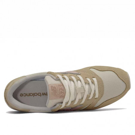 New Balance Sneakers, WL373, Covert Green/Space Pink, sandfarvet, mesh og ruskind, top