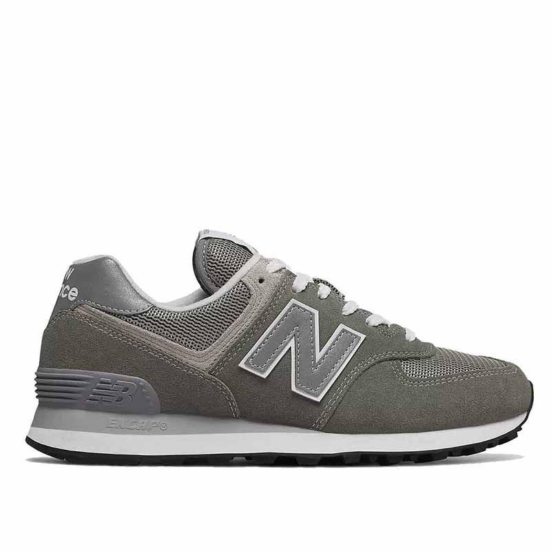 New Balance Sneakers, WL574, Grey/White, grå gummisko, refleks, ruskind