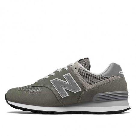 New Balance Sneakers, WL574, Grey/White, grå gummisko, refleks, ruskind, detalje