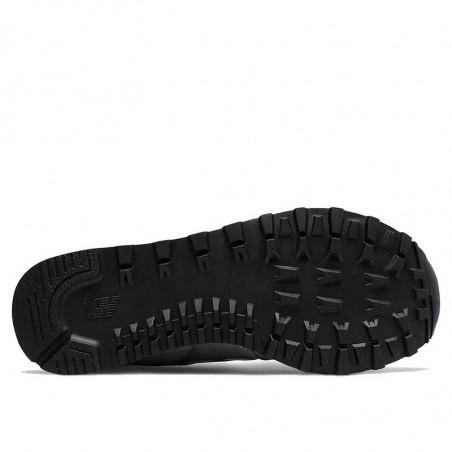 New Balance Sneakers, WL574, Grey/White, grå gummisko, refleks, ruskind, sål