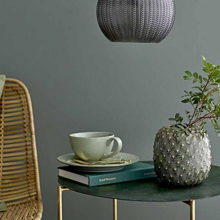 Bloomingville Vase, Miras, Grøn, stentøjs vase, keramik, detalje
