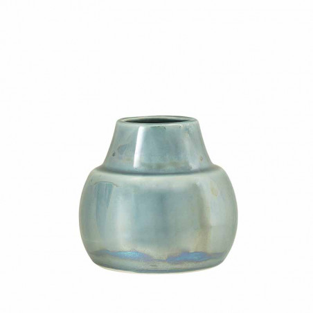 Bloomingville Vase, Gytte, Blå, stentøj, holografisk
