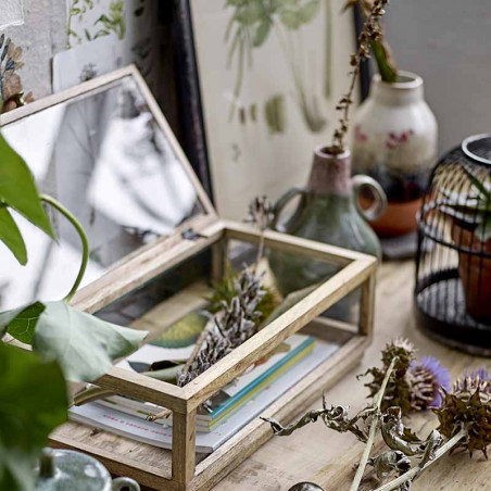 Bloomingville Vase, Ibbi, Grøn, stentøjs vase, keramik, detalje
