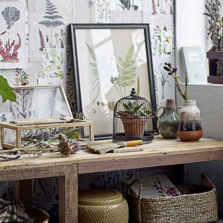 Bloomingville Vase, Ibbi, Grøn, stentøjs vase, keramik, interiør