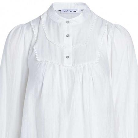 Co'Couture Bluse, Lisassa, White CoCouture top i hvid detalje