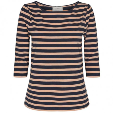Nümph T-Shirt, Nudaia T-Shirt, Ginger Root numph stribet t-shirt