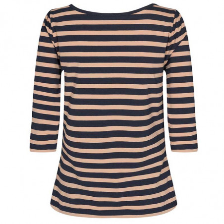 Nümph T-Shirt, Nudaia T-Shirt, Ginger Root numph stribet t-shirt - ryg