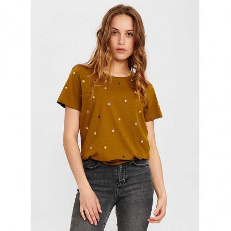 Nümph T-Shirt, Nucruz Tee, Breen numph tshirt på model