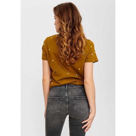 Nümph T-Shirt, Nucruz Tee, Breen numph tshirt på model set bagfra