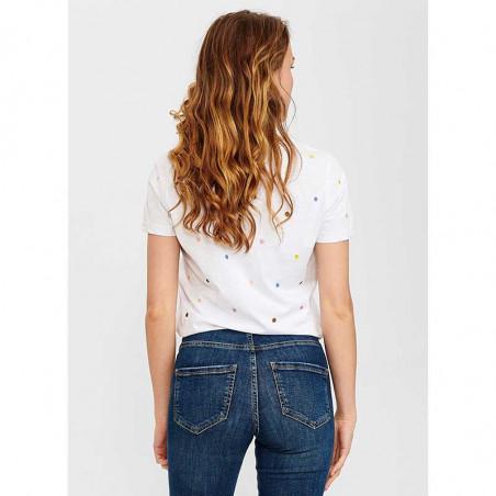 Nümph T-Shirt, Nucruz Tee, Bright White Numph t-shirt bluse på model set bagfra
