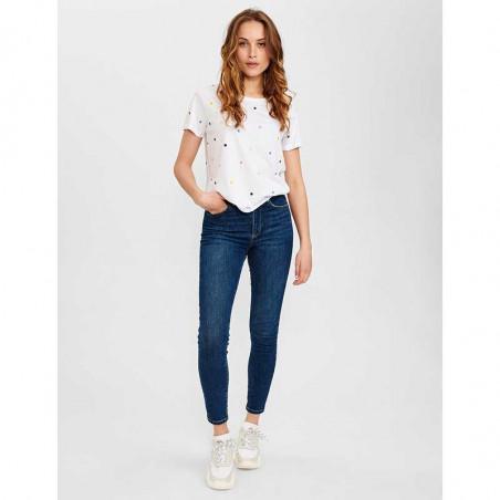 Nümph T-Shirt, Nucruz Tee, Bright White Numph t-shirt bluse på model look