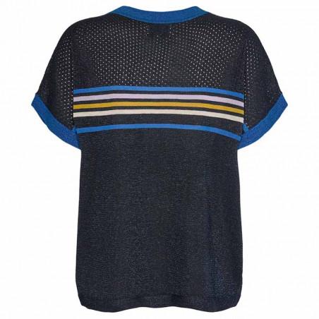 Nümph Bluse, Nucarwen Darlene, Dark Sapphire numph strik pullover med lurex ryg
