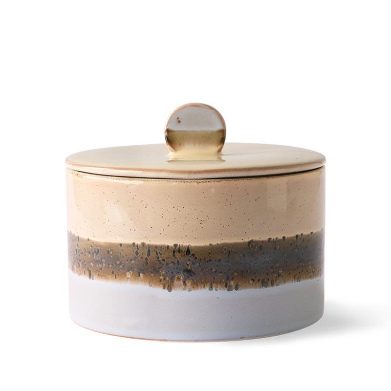 HK Living Krukke, Ceramic 70's Cookie Jar, Lake, keramik, stentøj, retro