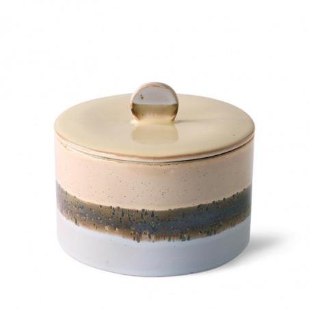 HK Living Krukke, Ceramic 70's Cookie Jar, Lake, keramik, stentøj, retro, detalje
