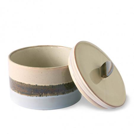 HK Living Krukke, Ceramic 70's Cookie Jar, Lake, keramik, stentøj, retro, åben