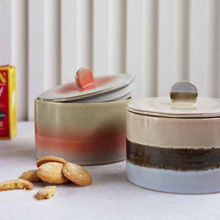 HK Living Krukke, Ceramic 70's Cookie Jar, Lake, keramik, stentøj, retro, venus