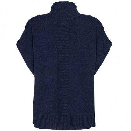 Nümph Strik, Nudarlene Button, Dark Sapphire Numph pullover ryg