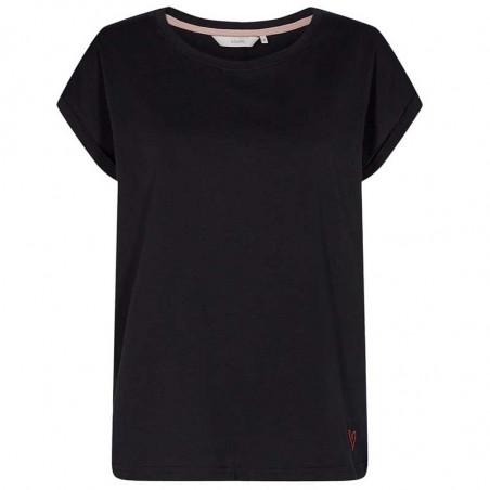 Nümph T-Shirt, Nubeverly T-Shirt, Caviar Numph top i sort