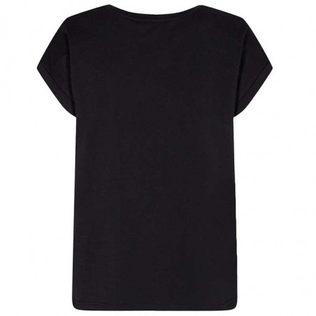 Nümph T-Shirt, Nubeverly T-Shirt, Caviar Numph top i sort ryg