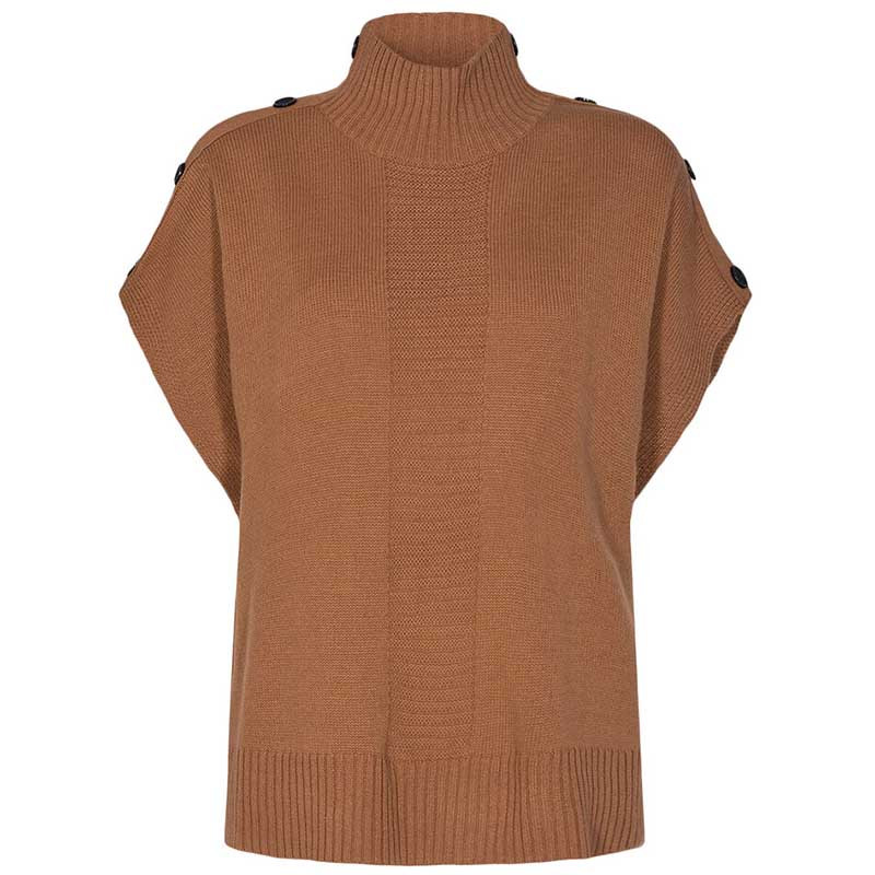Nümph Strik, Nudarlene Button, Cathay Spice Numph pullover strikvest