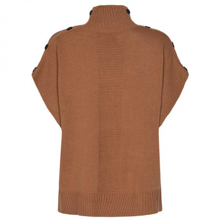 Nümph Strik, Nudarlene Button, Cathay Spice Numph pullover strikvest ryg