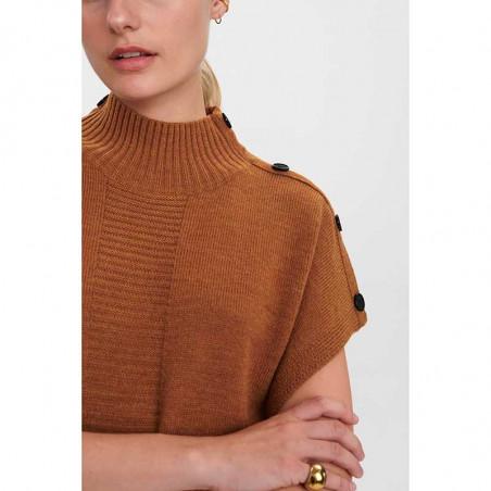 Nümph Strik, Nudarlene Button, Cathay Spice Numph pullover detalje