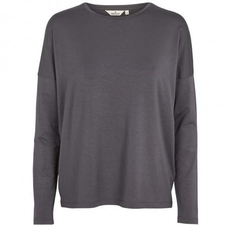 Basic Apparel T-shirt, Joline LS Tee, Blackened Pearl