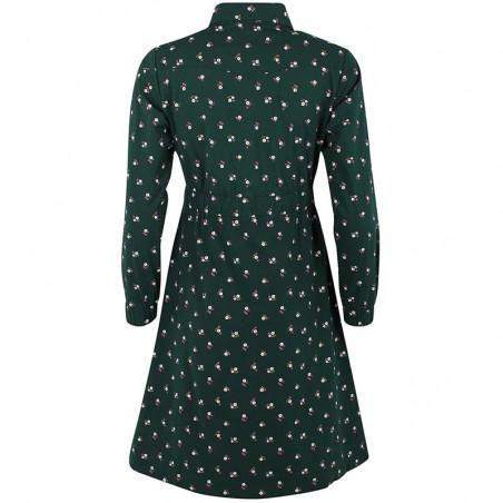 Danefæ Kjole, Ditte, Black Green Miniflower Danefae skjortekjole ryg