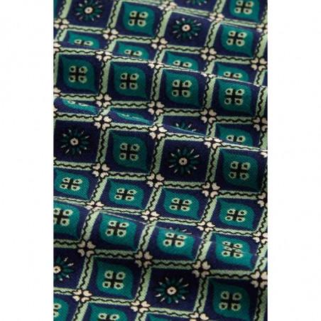 King Louie Kjole, Emmy Dress Carlisle, Peacoat Blue Kinglouie jerseykjole print detalje