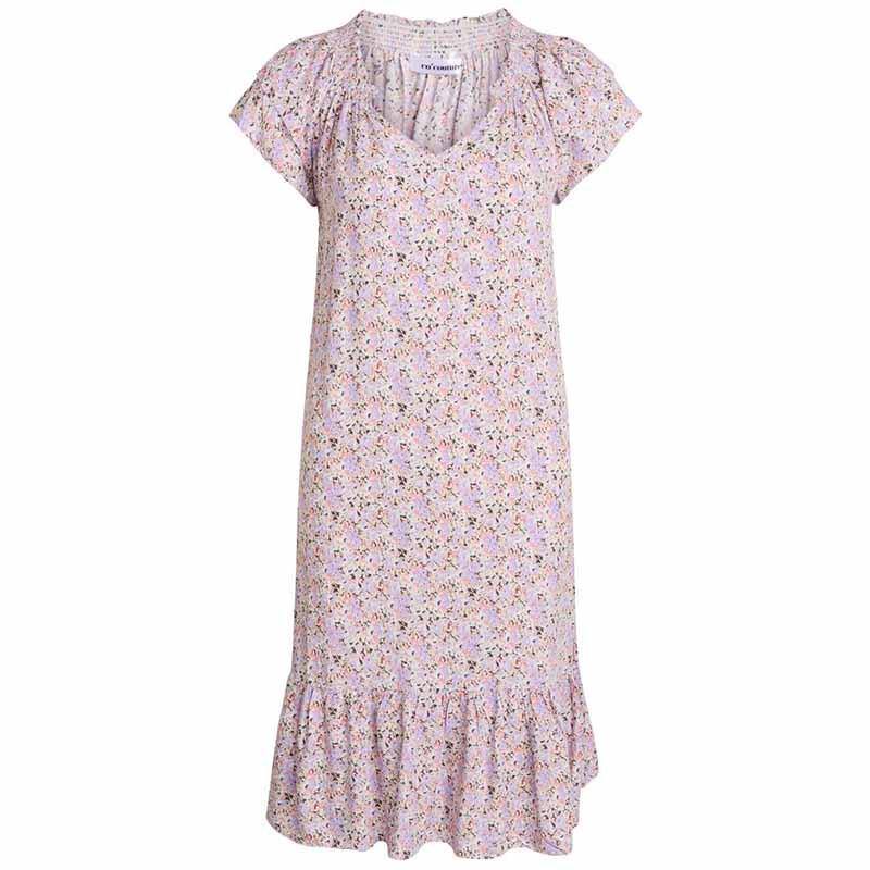 Co'Couture Kjole, Sunrise Crop Kandi, Purple, sommerkjole, smocksyning, v-udskæring.