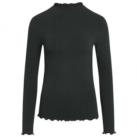 Mads Nørgaard Bluse, Trutte, Scarab, langærmet t-shirt, grøn, rib