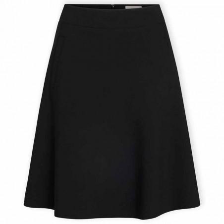 Mads Nørgaard Nederdel, Stelly Recycled Sportina, Black, black skirt, a-form