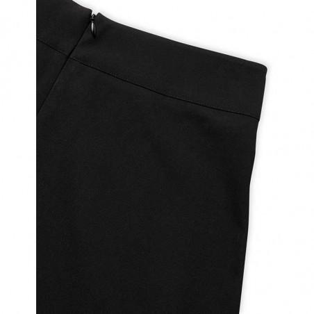 Mads Nørgaard Nederdel, Stelly Recycled Sportina, Black, black skirt, a-form, lynlås