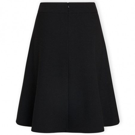 Mads Nørgaard Nederdel, Stelly Recycled Sportina, Black, black skirt, a-form, bag