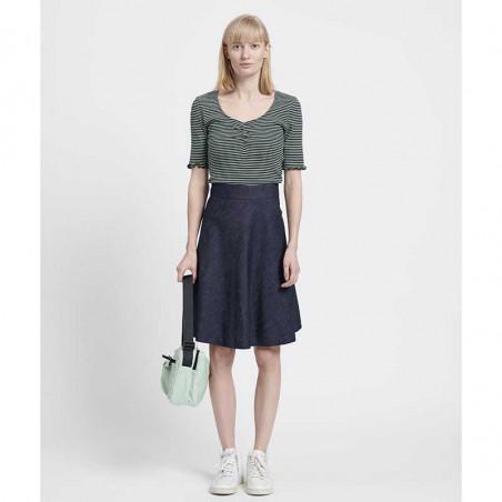 Mads Nørgaard Nederdel, Stelly Fall Indigo, Unwashed, denim skirt, a-form, model