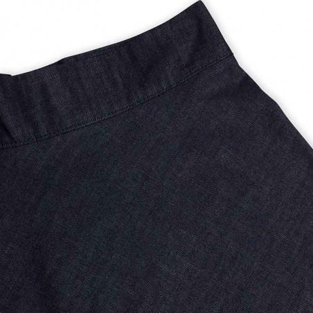 Mads Nørgaard Nederdel, Stelly Fall Indigo, Unwashed, denim skirt, a-form, detalje