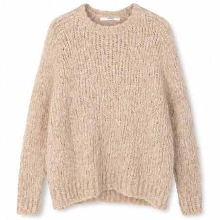 Sibin Linnebjerg Strik, Amsterdam, Sand Sibin linnebjerg sweater strik pullover