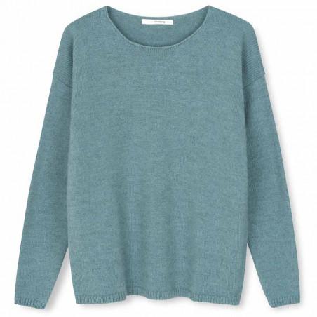 Sibin Linnebjerg Strik, Lupe, Light Petrol Uld sweater