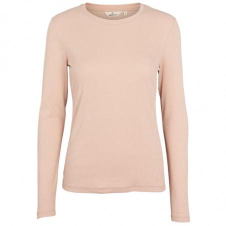 Basic Apparel T-shirt, Ludmilla LS, Rose Dust