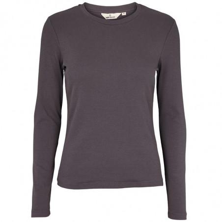 Basic Apparel T-shirt, Ludmilla LS, Blackened Pearl