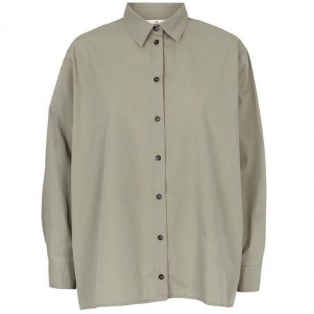 Basic Apparel Skjorte, Vilde Loose Shirt, Dried Sage