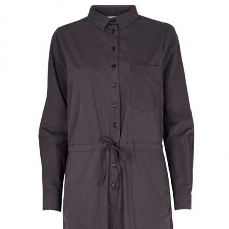 Basic Apparel Buksedragt, Vilde, Blackened Pearl Jumpsuit koksgrå detalje